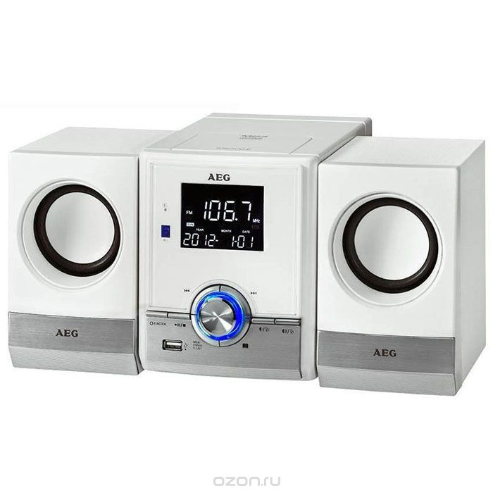 AEG MC 4461 BT, White микросистема