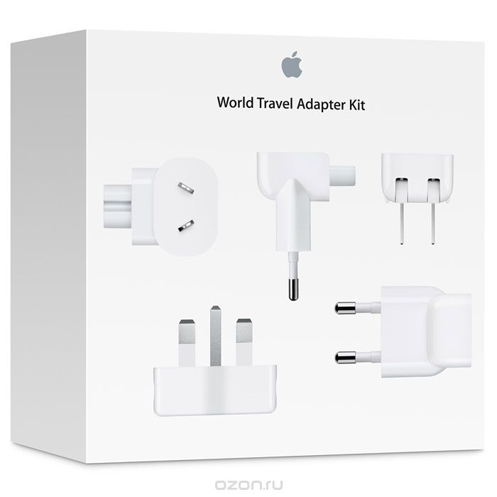 Apple World Travel Adapter Kit комплект адаптеров (MD837ZM/A)