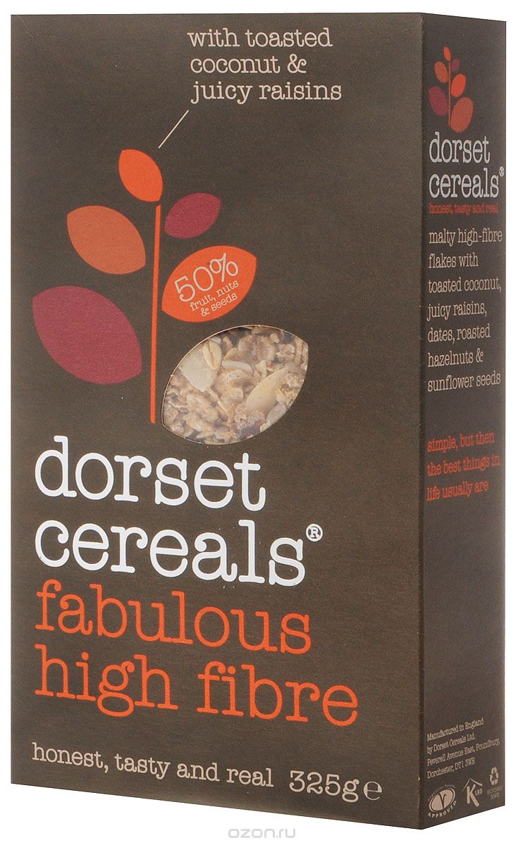 Dorset Cereals Super High Fibre мюсли, 325 г