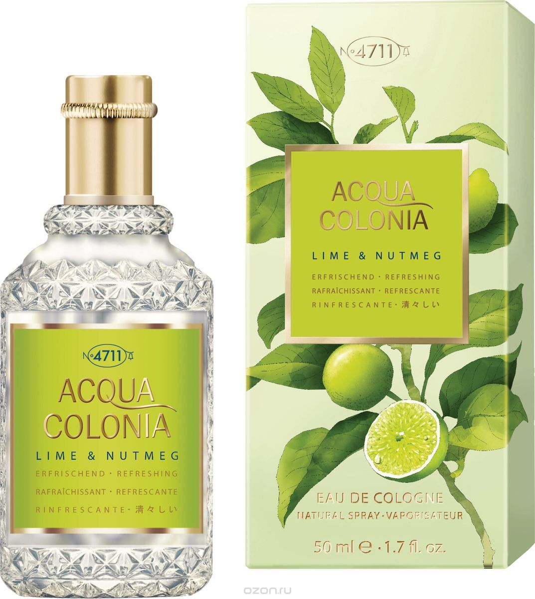 4711 Acqua Colonia Refreshing Lime & Nutmeg ќдеколон, 50 мл