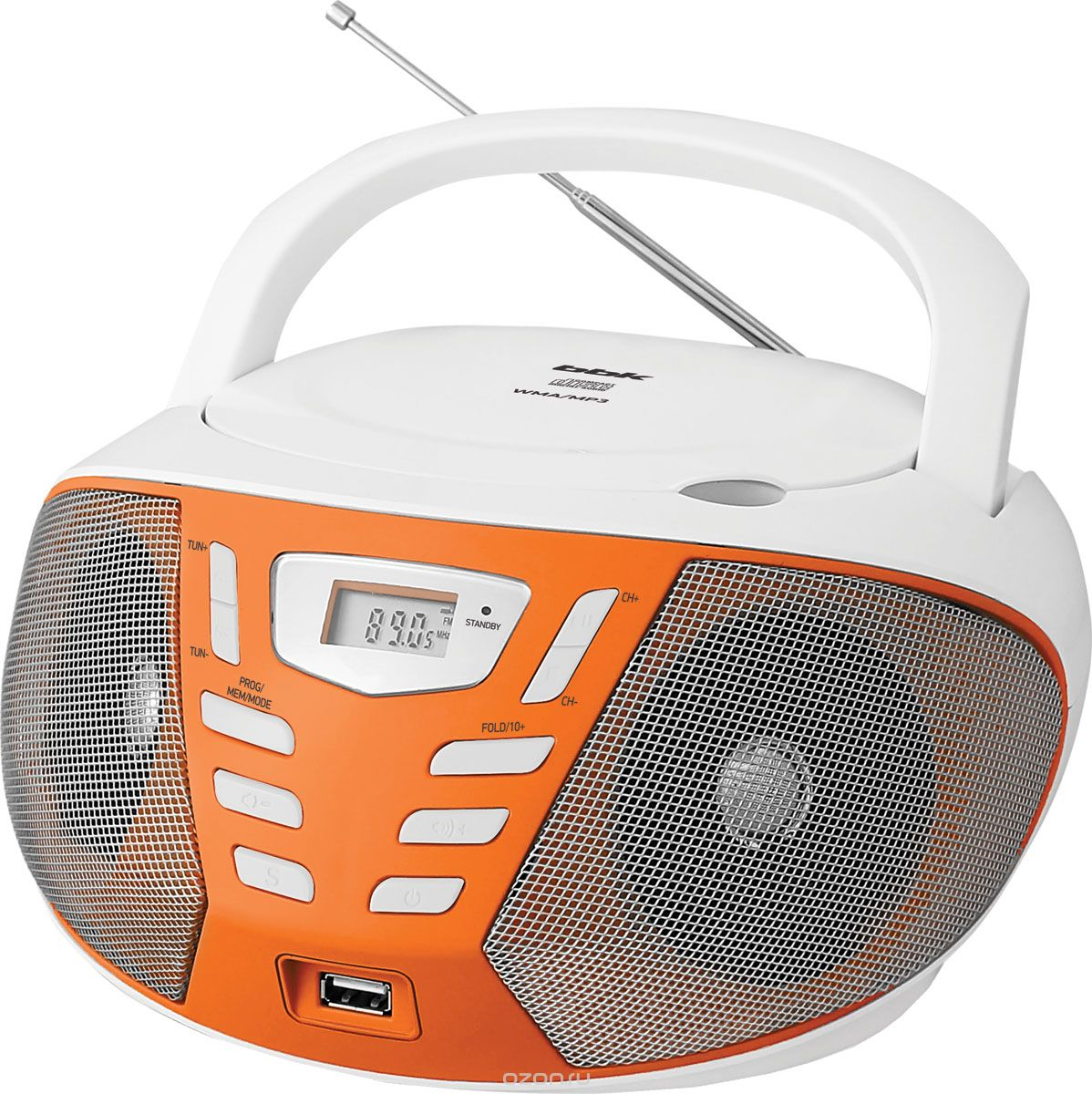 BBK BX193U, White Orange CD/MP3 магнитола