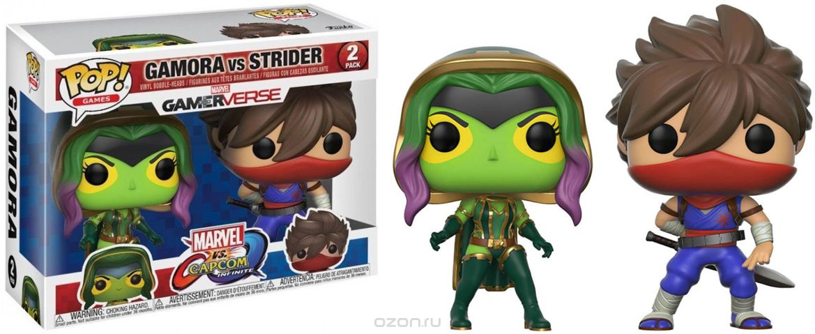 Funko POP! Vinyl 2-Pack 'игурка Capcom vs Marvel Gamora vs Strider 22776